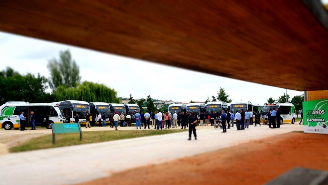 Apresentados hoje 10 novos autocarros 100% elétricos que reforçam frota dos SMTUC