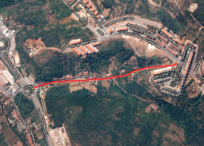 Câmara repavimenta Rua Vale de Figueiras que liga a Circular Externa ao Ingote