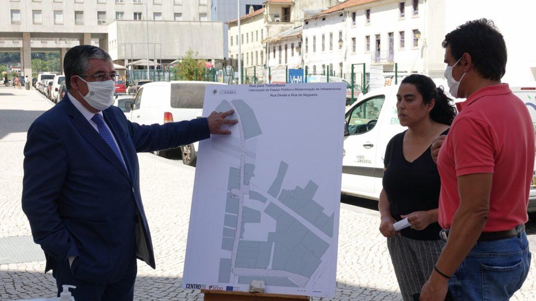 CM Coimbra consigna requalificação das ruas Direita e da Nogueira na Baixa de Coimbra