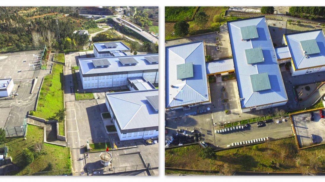 Remoção de fibrocimento concluída na escola básica de Ceira e em conclusão em Taveiro
