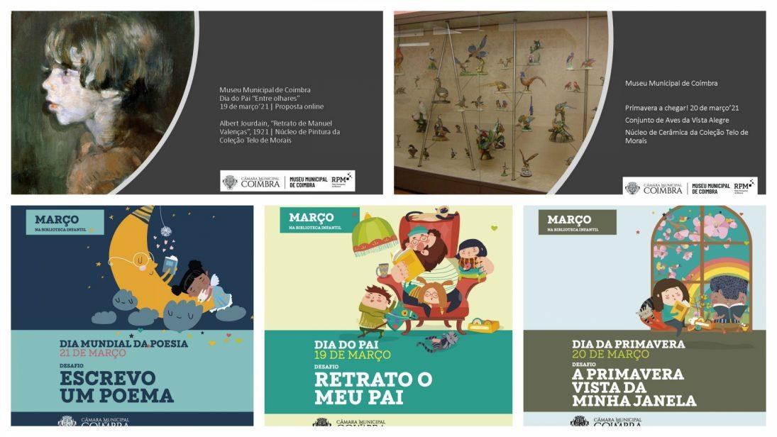 CM Coimbra promove atividades infantojuvenis para os dias do Pai, da Primavera e da Poesia