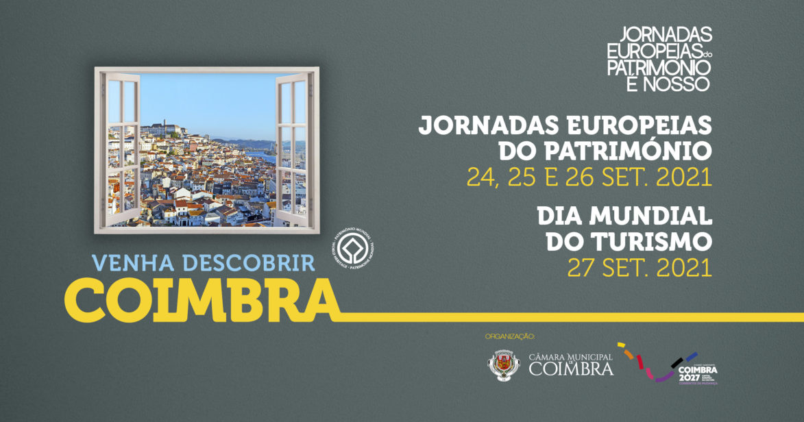 Coimbra celebra Património e Turismo com diversas propostas culturais de 24 a 27 de setembro